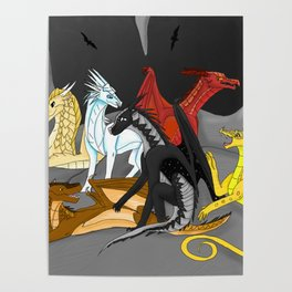 Dragon Wings Of Fire Poster