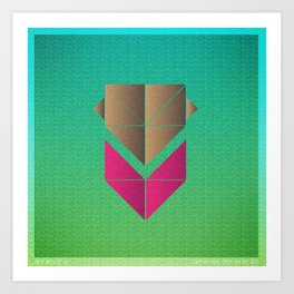 Music in Monogeometry : The Head and the Heart Art Print