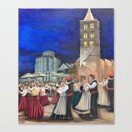 Dancers in Zadar Canvas Print