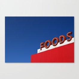 Foods Canvas Print