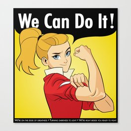 Adora Says We Can Do It Canvas Print