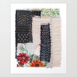 Boro Kantha Textile Art 4 Art Print