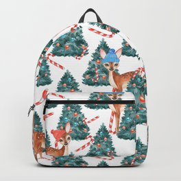 Christmas Fawns and Trees Backpack