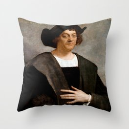 Christopher Columbus Portrait - Sebastiano del Piombo - 1519 Throw Pillow