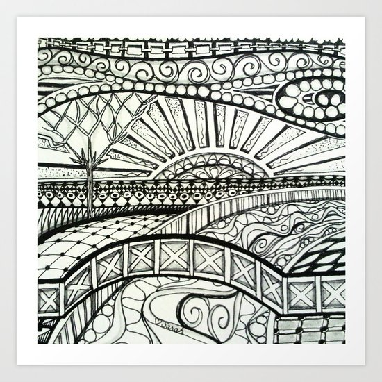 Tangled Land Art Print