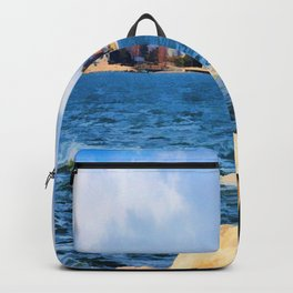 New England Shoreline - Painterly Backpack