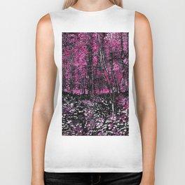 Van Gogh Trees & Underwood Pink Biker Tank