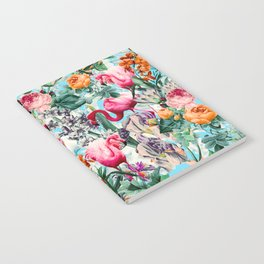 Floral and Flamingo VII pattern Notebook