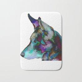 German Shepherd in Jewel tones Bath Mat