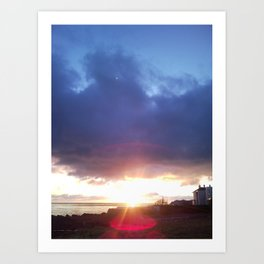 Sunrise in Dalkey Art Print