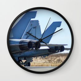 Avalon Airshow - RAAF FA-18 Hornet Wall Clock