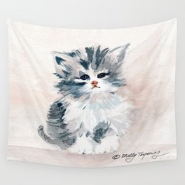 Kitten Portrait Wall Tapestry