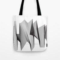 dinosaurs Tote Bags featuring Dinosaurs by The New Minimalist