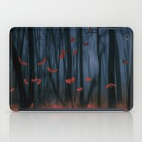 feather iPad Cases featuring Red feather dance  (colour option) by Viviana Gonzalez