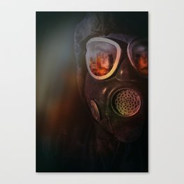 Fire in the eyes Canvas Print