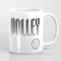volleyball Mugs featuring Volleyball by raineon