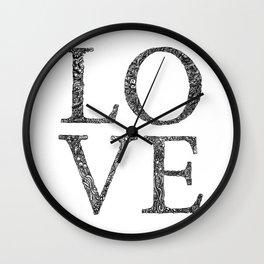 Love Letters Zentangle Wall Clock