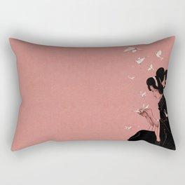 Becoming the Birds Rectangular Pillow