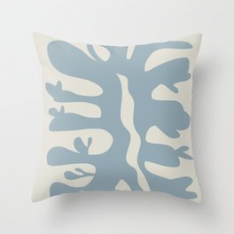 Leaf plant cut out Throw Pillow