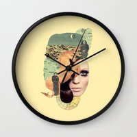 aquarius Wall Clocks featuring Aquarius by Francisca Pageo