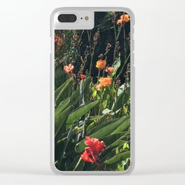 Wild Hawaiian Tropical Garden Clear iPhone Case