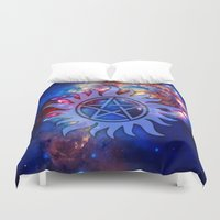 supernatural Duvet Covers featuring Supernatural Cosmos by Spooky Dooky