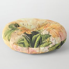 Growing Up #floral #society6 #watercolor Floor Pillow