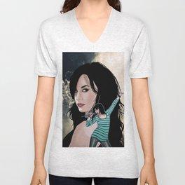 Demi Lovato - comic book cover image Unisex V-Neck