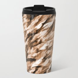 Beige on Beige Designer Camo pattern Travel Mug