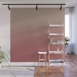 Ombre Warm Taupe and Dusty Cedar Wall Mural