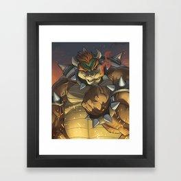 BOWSER: KING OF THE KOOPAS Framed Art Print