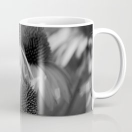 Cone Flower Echoes In Black & White Coffee Mug