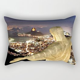 Christ the Redeemer ✝ Statue  Rectangular Pillow
