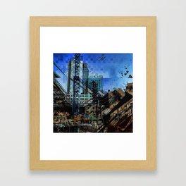 Montreal urbania Framed Art Print