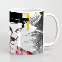 chaplin Mugs featuring charlie chaplin by manish mansinh