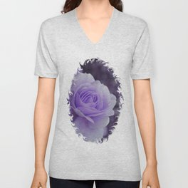 Lavender Rose 2 Unisex V-Neck