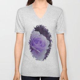 Lavender Rose 2 Unisex V-Neck