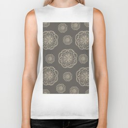 Gold Romantic Mandala Pattern #1 #decor #art #society6 Biker Tank