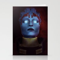 mass effect Stationery Cards featuring Mass Effect: Samara by Ruthie Hammerschlag