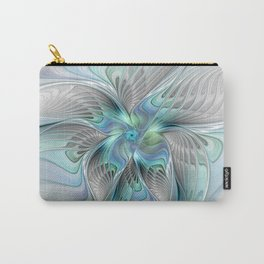 Abstract Butterfly, Fantasy Fractal Art Carry-All Pouch