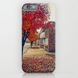 Autumn in Downtown Ironton iPhone Case