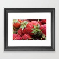 Delicious Strawberries Framed Art Print