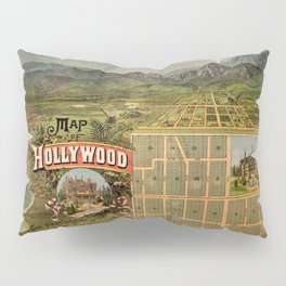 Map Of Hollywood 1887 Pillow Sham