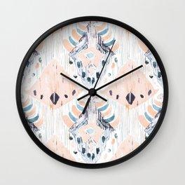 tranquilla balinese ikat Wall Clock