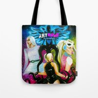 artrave Tote Bags featuring ARTRAVE by CARLOSGZZ