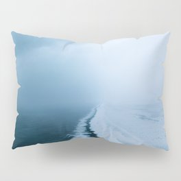 Infinite and minimal black sand beach in Iceland - Landscape Photography Pillow Sham