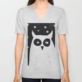 The Owl Unisex V-Neck