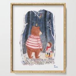 Boy meets Bear Serving Tray