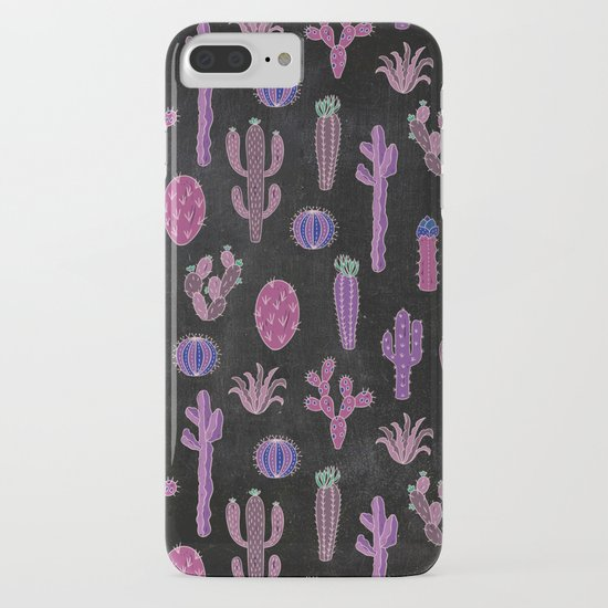 Cactus Pattern On Chalkboard by lavieclaire