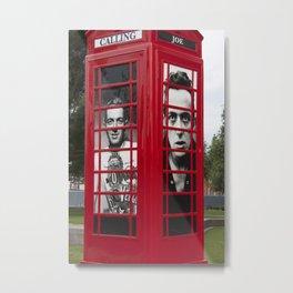 London Red Phone Box Metal Print